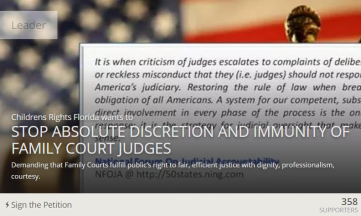 Stop Absolute Discretion and Immunity of Family Court Judges - Causes 2015