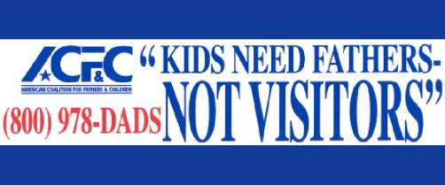 Kids Need Fathers NOT Visitors - 2016