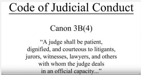 judical conduct and the code of The illinois code of judicial conduct and the appearance of impropriety jeffrey m shaman  i introduction in 1987, the illinois supreme court adopted the illinois code of judicial conduct (illinois code or code) as a standard of profes.