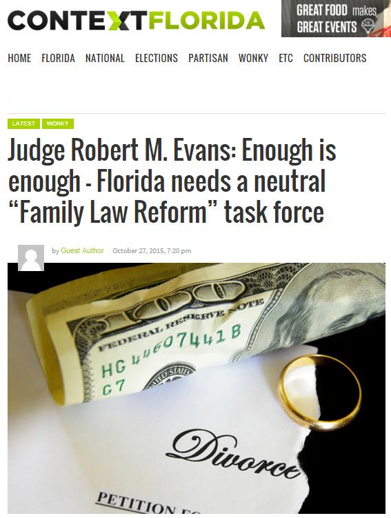 Oct 2015 Enough is Enough by FL Ret Judge Evans - 2015