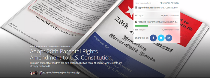 Adopt 28th Parental Rights Amendment to US Constitution - Causes - 2015