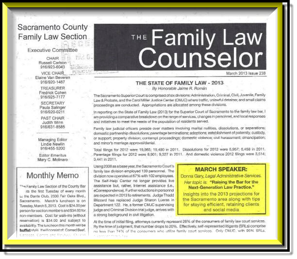 Sacramento Family Court Report